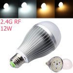 2.4G E27 12W Farbtemperatur Einstellbar Dimmbare LED Birne AC85 265V LED Lampen