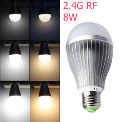 2.4G E27 8W Color Temperature Adjustable Dimmable LED Bulb AC85-265V