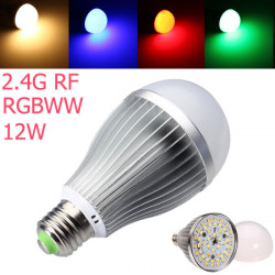 2.4G RF E27 12W RGB + Warmweiß Dimmbare SMD 5630 AC85 265V LED Birnen