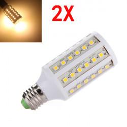 2X E27 12W Warmweiß 5050SMD 60LED Energiespar Mais Lampen Birne 220V