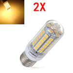 2X E27 5.5W Warm White 828LM 5050SMD 69 LED Corn Light 220-240V LED Light Bulbs