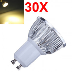30X Dimmable GU10 6W 540LM Warm White Light LED Spot Bulb 220V