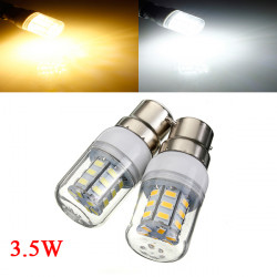 3.5W B22 White/Warm White 5730SMD 27 LED Corn Light Bulb 110V