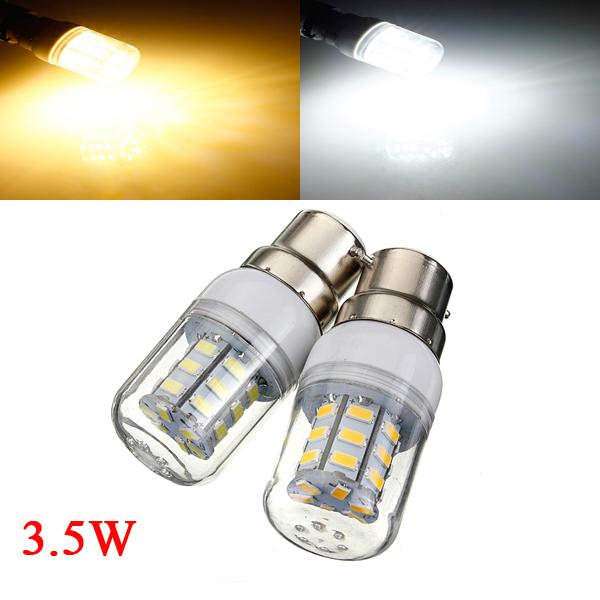 3,5 W B22 Hvid / Varm Hvid 5730SMD 27 LED Corn Pære 12V LED-pærer