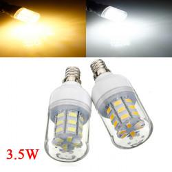 3.5W E12 weißes / warmes Weiß 5730SMD 27 LED Mais Glühlampe 110V
