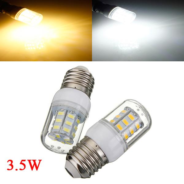 3.5W E27 Vit / Varmvit 5730SMD 27 LED Lampa 110V LED-lampor