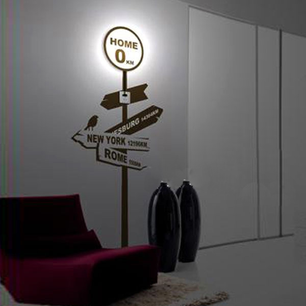 3D Wallpaper Home Lamp Sticker Wall Light Decor Wall Lamp Wall Lights