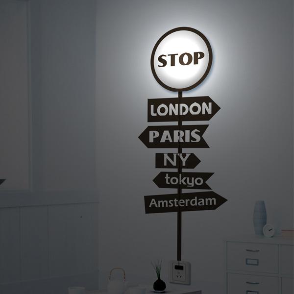 3D Vægpaper Stoplygte Tegneserie Væglampe Shell Case Sticker Lamp Væglamper