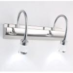 3W / 6W Moderne LED Spejl Lys Crystal Rustfrit Stål AC 85-265V Væglamper