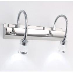 3W / 6W Modern LED Spegelbelysning Crystal Stainless Steel AC 85-265V