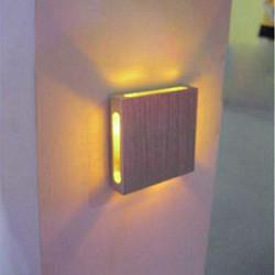 3W Fire Sider Aluminium Square Backdrop LED Væglampe 110-220V