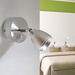 3W LED Aluminum Wall Lamp With Switch For Indoor Bedside Corridor