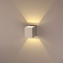 3W Up And Down Side Aluminum Square LED Wall Light 220-240V