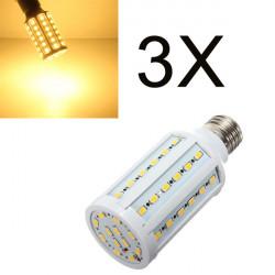 3X E27 15W 60 SMD 5630 Warm White LED Corn Light Bulbs AC 110V