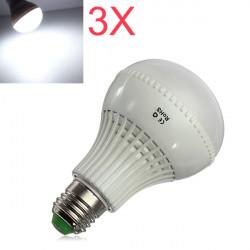 3X E27 LED Lampor 9W SMD 5730 AC 85-265V Vit Globe Ljus