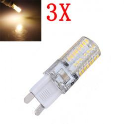 3X G9 3W warmes Weiß 64 SMD 3014 LED Punkt Glühlampe 220V AC