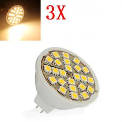 3X MR16 5W Warm White 24 SMD 5050 LED Light Bulb Lamp 220V AC