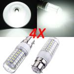 4X B22 7,5 W Hvid 5730 SMD 69 LED Corn Pære 220V LED-pærer