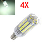 4X E14 5.5W White 828LM 5050SMD 69LED Corn Light Bulb 220V LED Light Bulbs