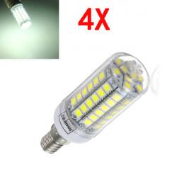 4X E14 5.5W White 828LM 5050SMD 69LED Corn Light Bulb 220V