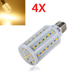 4X E27 12W Warm White 60 SMD 5630 SinglyFire LED Corn Bulb 220V