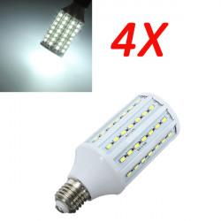 4X E27 20W Pure White 5630SMD 84 LED Corn Light Bulb Lamps 220V