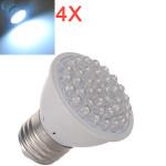 4X E27 2.5 Pure Vit Spotlight Glödlampa 110-240V LED-lampor