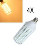 4X E27 40W Warmweiß 5630 SMD 165 LED Mais Licht 220V LED Lampen
