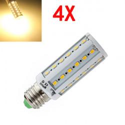 4X E27 8W Warm White 5630 SMD SinglyFire 42 LED Corn Bulbs AC 220V