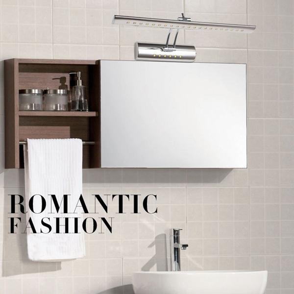 5W Rustfrit Stål LED Spejl Lys Vandtæt Hjem Badeværelse Væglampe Væglamper