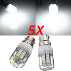 5X B22 3.5W 420LM 27 SMD 5730 Pure Vit LED Corn Lampor 220V