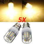 5X B22 3,5 W 420LM 27 SMD 5730 Varm Hvid LED Corn Pærer 220V LED-pærer