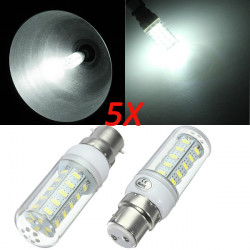 5X B22 7W White 5730 SMD 36 LED Corn Light Lamp Bulb 220V