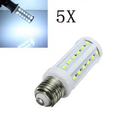 5X E27 11W Hvid 5630SMD 42 LED Sparepære Corn Løg 220V