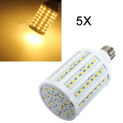 5X E27 25W Warm White 5630SMD 102 LED Corn Light Bulb Lamps 110V