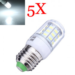 5X E27 7W 560LM White 30 SMD5630 LED Corn Light Lamp Bulbs 220-240V