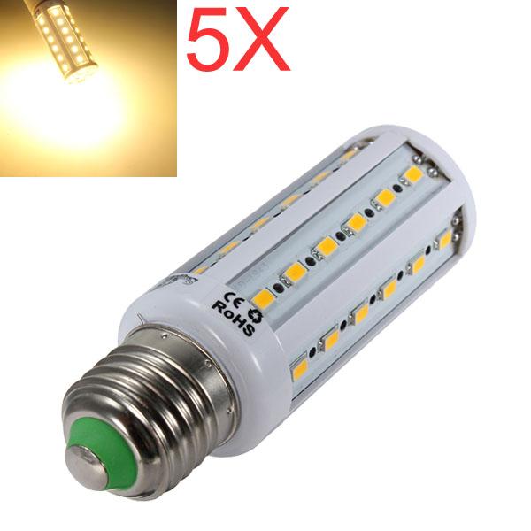 5X E27 8W Warm White 42 SMD 5630 AC 220V SinglyFire LED Corn Bulbs LED Light Bulbs