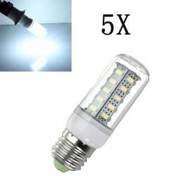 5X E27 LED-lampa 7W Vit 36 SMD 5730 AC 220V