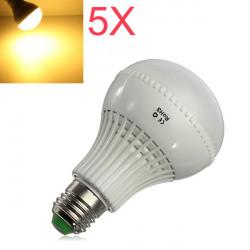 5X E27 LED Birnen 9W SMD 5730 AC 85 265V warme weiße Kugel Licht