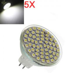 5X MR16 4.2W Hvid 60 SMD 3528 LED Spotlampe Pære 220V