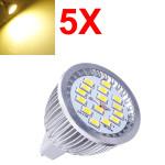5X MR16 6.4W Warm White SMD 5630 LED Spot Light Bulb 10V-18V AC LED Light Bulbs