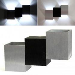 6W LED Modern Wall Light Lamp Aluminum Black White Cubic Sconce