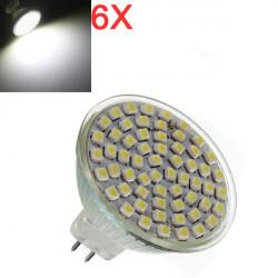 6X MR16 4.2W White 60 SMD 3528 LED Energy Saving Spot Bulb 220V