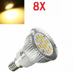 8X E14 6.5W LED Lys Varm Hvid 5630 SMD 16 LED Spotlampe Pærer 220V