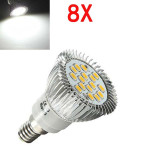 8X E14 6.5W LED Light White 5630 SMD 16 LED Spot Light Bulbs 220V LED Light Bulbs