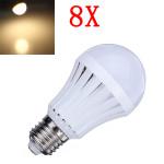 8X E27 5W Varmvit 30 SMD3014 LED-ljus Ball Lampor Lampa 165-230V LED-lampor