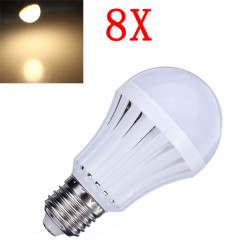 8X E27 5W Warm White 30 SMD3014 LED Light Ball Bulbs Lamp 165-230V