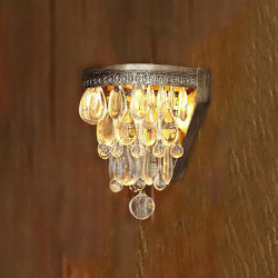 Artistic Crystal Beaded Pendants Wall Light With Light Base 220V