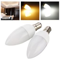 B15 3W 10 SMD 2835 AC 220-240V White/Warm White LED Candle Light Bulb