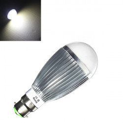 B22 10W Pure White LED Globe Ball Light Lamp Bulb 220V